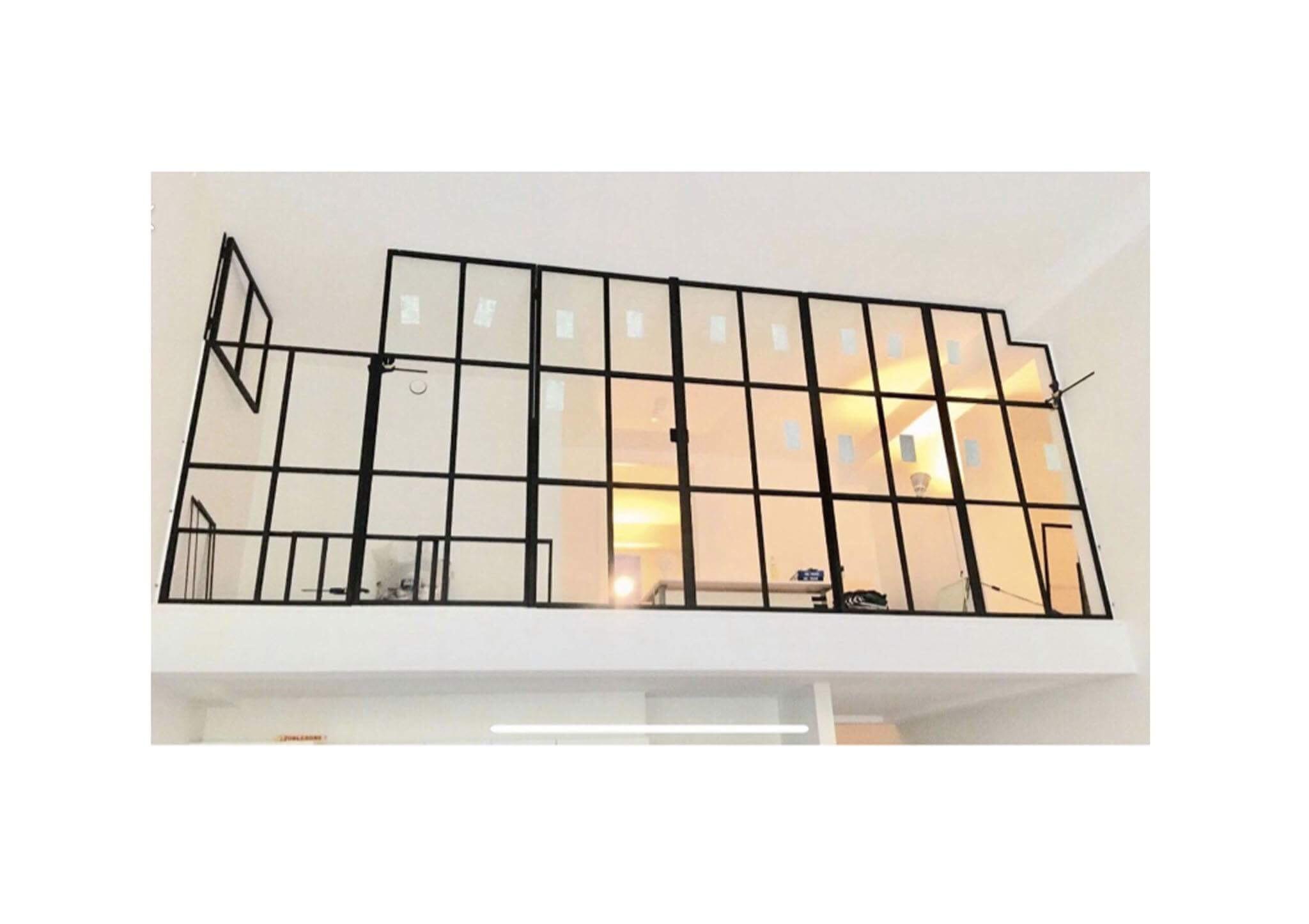 glasvæg-new yorker væg-skillevæg-glasvaeg-dobbeltdør