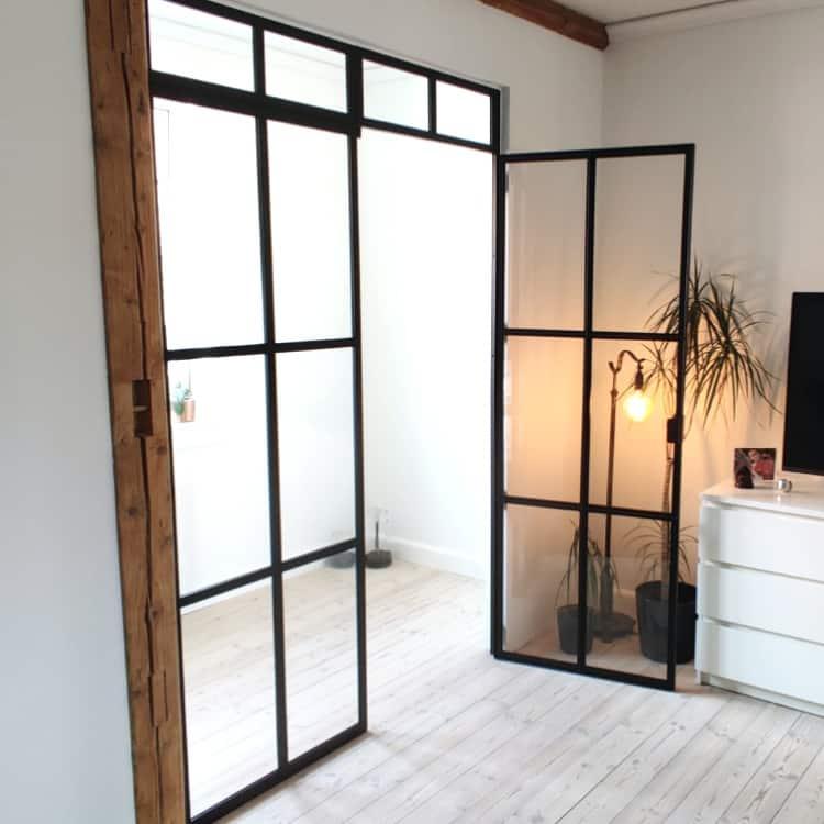 new yorker væg-før og efter new yorker væg-glasvæg i stue-glasvæg kontor-new yorker væg kontor-new yorker glasdør